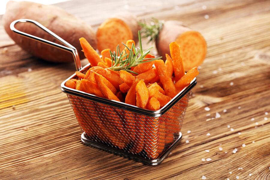 сладки картофи с подправки